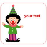 Happy clown. A happy little clown with a text banner Royalty Free Illustration