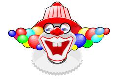 Happy clown Stock Images