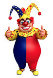Happy clown with thumbs up pose Royalty Free Stock Images