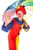 Happy Clown With Umbrella Royalty Free Stock Photos