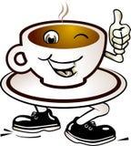 Happy coffee Stock Images