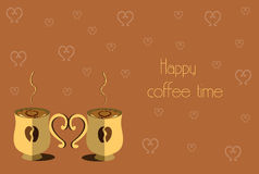 Happy coffee time Stock Image