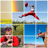 Happy collages Royalty Free Stock Photo