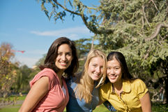 Happy college students Royalty Free Stock Image