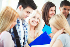 Happy College Students Stock Image