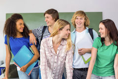 Happy college students Royalty Free Stock Photos