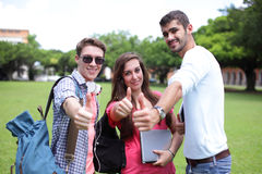 Happy College students Royalty Free Stock Photo