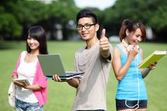 Happy College students Stock Photo