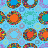 Happy color donut seamless pattern Royalty Free Stock Photos