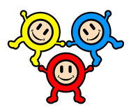 Happy color kids Royalty Free Stock Images