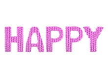 Happy. Color pink Royalty Free Stock Photo