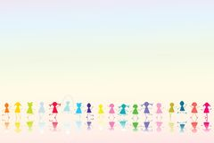Happy Colored children royalty free illustration
