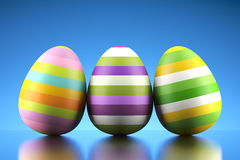 Happy colored Easter eggs Royalty Free Stock Photos