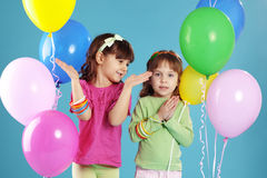 Happy colorful children Royalty Free Stock Images