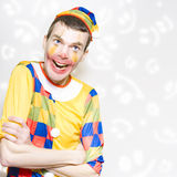 Happy Colorful Clown With Big Smile Stock Image