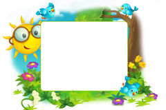 Happy and colorful frame for the children Royalty Free Stock Image