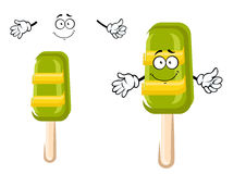 Happy colorful frozen ice cream lollipop Stock Photo