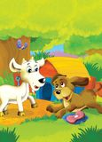 The life on the farm - illustration for the children Stock Image