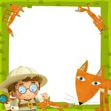 The nature frame - wood - illustration for the children Stock Image
