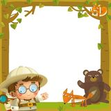 The nature frame - wood - illustration for the children Stock Photography