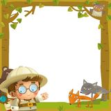 The nature frame - wood - illustration for the children Royalty Free Stock Photography