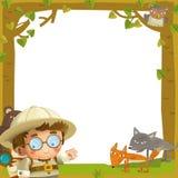 The nature frame - wood - illustration for the children vector illustration