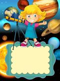 The solar system - milky way - astronomy for kids - illustration for the children Royalty Free Stock Photography