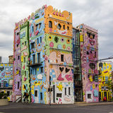 Happy colorful modern house. Rizzi house in Braunschweig, Germany, happiest house with colorful cartoon shapes and artistic architecture Royalty Free Stock Images