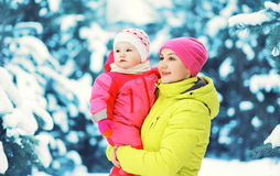 Happy colorful mother and child having fun Stock Photography
