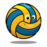 Happy colourful bouncing volleyball ball Stock Photos