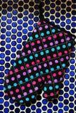 Happy Colourful dot kitchen Stock Photo