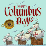 Happy Columbus Day Stock Images