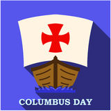 Happy Columbus Day app art Stock Photo