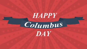 Happy Columbus Day background. Vector illustration. Royalty Free Stock Images