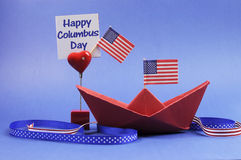 Happy Columbus Day decorations Royalty Free Stock Images