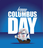 Happy Columbus Day Design Stock Images