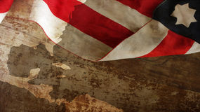 Happy Columbus Day. Flag On Wood. Happy Columbus Day. Usa Flag On Wood Stock Photography
