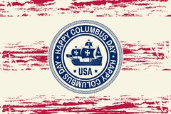 Happy Columbus Day. Royalty Free Stock Photography