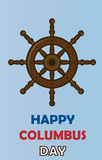 Happy columbus day. Postcard for your bussines Stock Photo