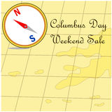 Happy Columbus Day promotion sale map Royalty Free Stock Photo