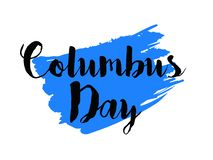Happy Columbus Day stock illustration