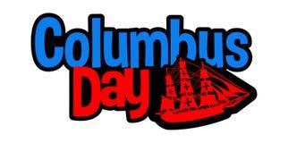 Happy Columbus Day royalty free illustration