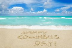 Happy Columbus Day USA background royalty free stock photo