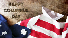 Happy Columbus Day. Royalty Free Stock Image
