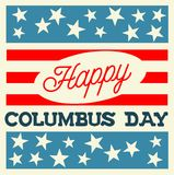 Happy Columbus Day Stock Photography