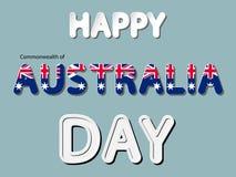 Happy the Commonwealth of Australia day Royalty Free Stock Photos