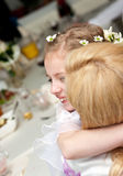 Happy communion girl royalty free stock images