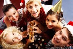 Happy company Royalty Free Stock Images