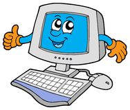 Happy computer Stock Images