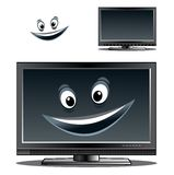 Happy computer monitor or tv scren Royalty Free Stock Photo